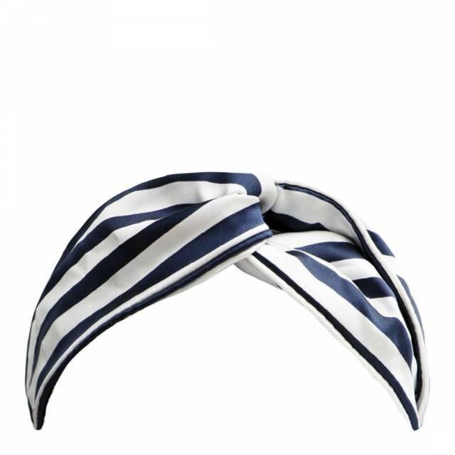 Slipsilk™ Navy Stripe Twist Headband - New In Box $69 - Free Shipping