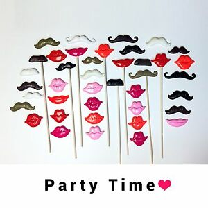 Wedding decor Photobooth Props plastic 3D lips and mustaches party supplies
