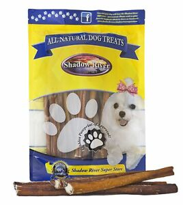 25 Pack 12 Inch Thick All Natural Premium Beef Bully Sticks by Shadow River