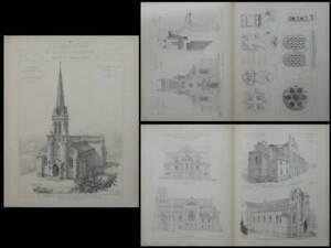 Aix Les Bains, Eglise Notre Dame - Gravures Architecture 1900 - Arthur Bertin Sensation Confortable