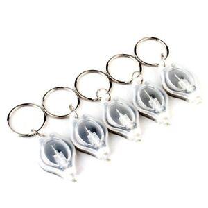 10-pcs-Transparent-22000MCD-Mini-LED-Flashlight-Torch-Light-Lamp-Keychain