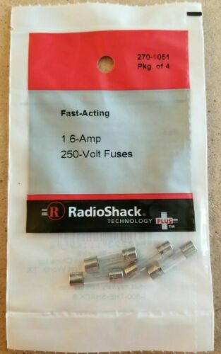 RadioShack 1.6 Amp 250 Volt Fast-Acting Fuses 5×20mm 2701051 NEW