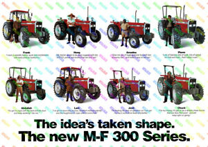 - a3 Poster Massey Ferguson 135 Tractor Advertising 3 For 2 Offer