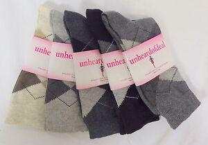 Unheardofdeal-Ladies-Argyle-Dress-Crew-Cotton-Socks-W8080-2083