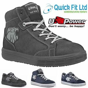 5733eb9bdcb Details about NEW MENS U-POWER SAFETY BOOTS TRAINERS SHOES STEEL TOE CAP  WATER RESISTANCE SIZE