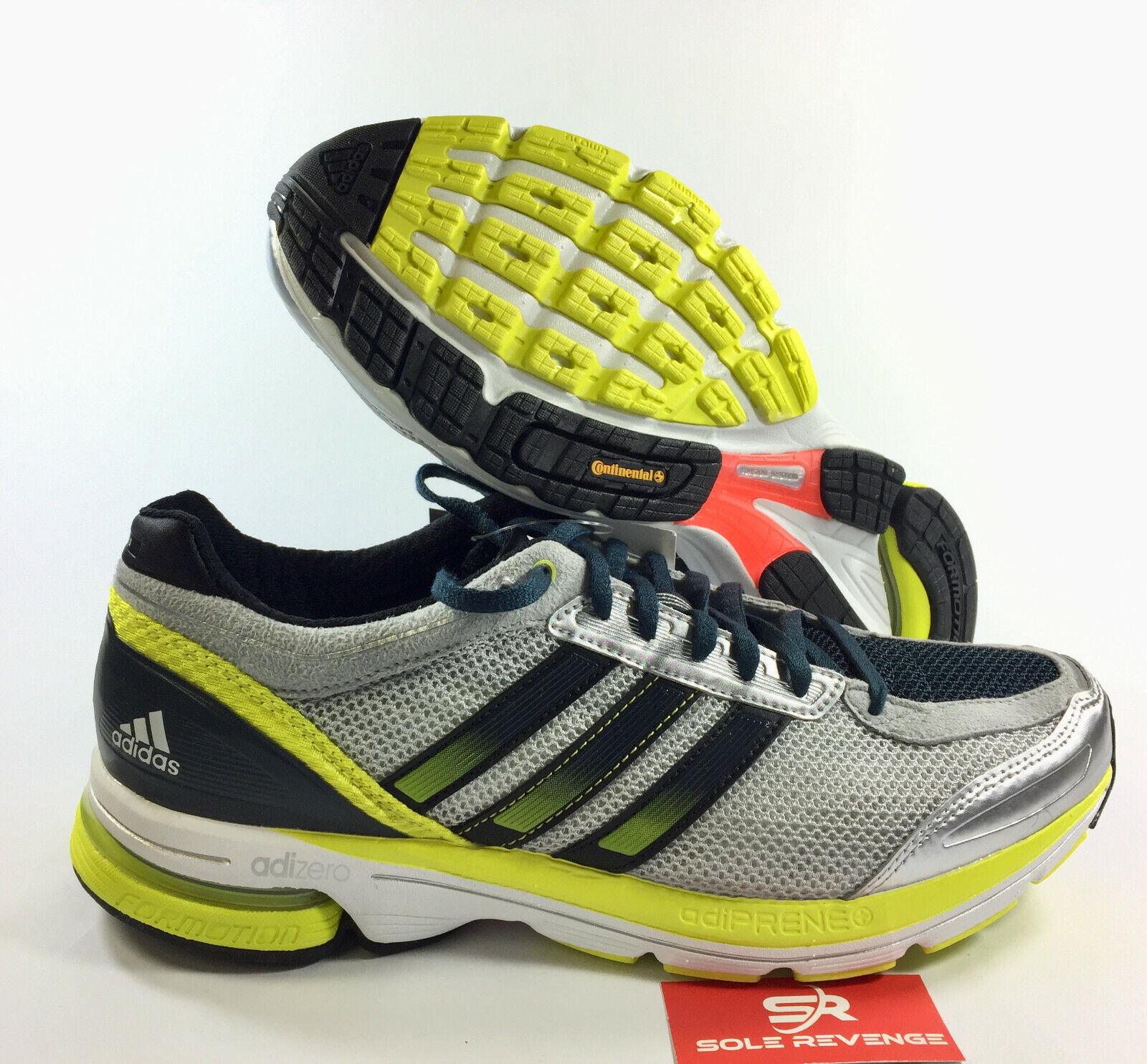 9.5 Mens adidas adizero BOSTON 3 shoes Metallic Silver bluee bluee bluee Lab Lime G62756 x1 31339e