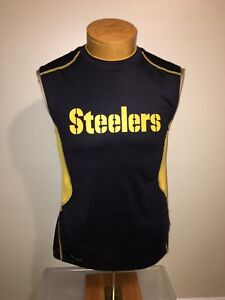 detailed look 12a05 0fd8a Details about Nike Pittsburgh Steelers NFL On Field Sleeveless Dri-fit  shirt - Men's S