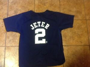 online store e4d9e 42423 Details about New York Yankees Derek Jeter Jersey Youth Large fits sizes  14/16