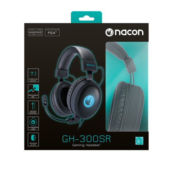 NACON Gh 300sr 7.1 Surround Gaming Headset Ps4 for sale online   eBay