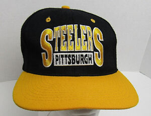 9173f569 Details about Pittsburgh Steelers Team NFL Football Snapback Hat Cap VTG  Drew Pearson Retro