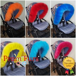 Pushchair-Pram-Furs-Hood-Trim-Universal-Fit-Parts-Accessories-a-must-have