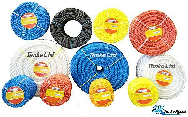 POLY ROPE blueE POLYPROPYLENE COILS -STRONG -FLOATS -AGRICULTURE SAILING CAMPING