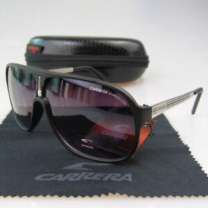 f7be0cef1fd2 Image is loading Men-Womens-Retro-Sunglasses-Square-Matte-Bright-Black-