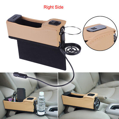Left Side Car Seat Side Pocket Organizer Caddy Catcher  Storage with USB Charger
