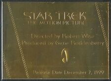 Complete Star Trek Movies Gold Plaque Chase Card G1