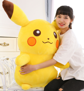 2019 New 60CM Giant Size Pikachu Pokémon Soft Plush Toys Doll Kids Xmas Gift
