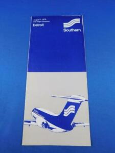 SOUTHERN-AIRLINES-CITY-FLIGHT-DIRECTORY-TIMETABLE-DETROIT-AUGUST-1976-ADVERTISE