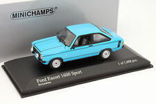 Ford Escort II 1600 Sport Baujahr 1975 hell blau 1:43 Minichamps