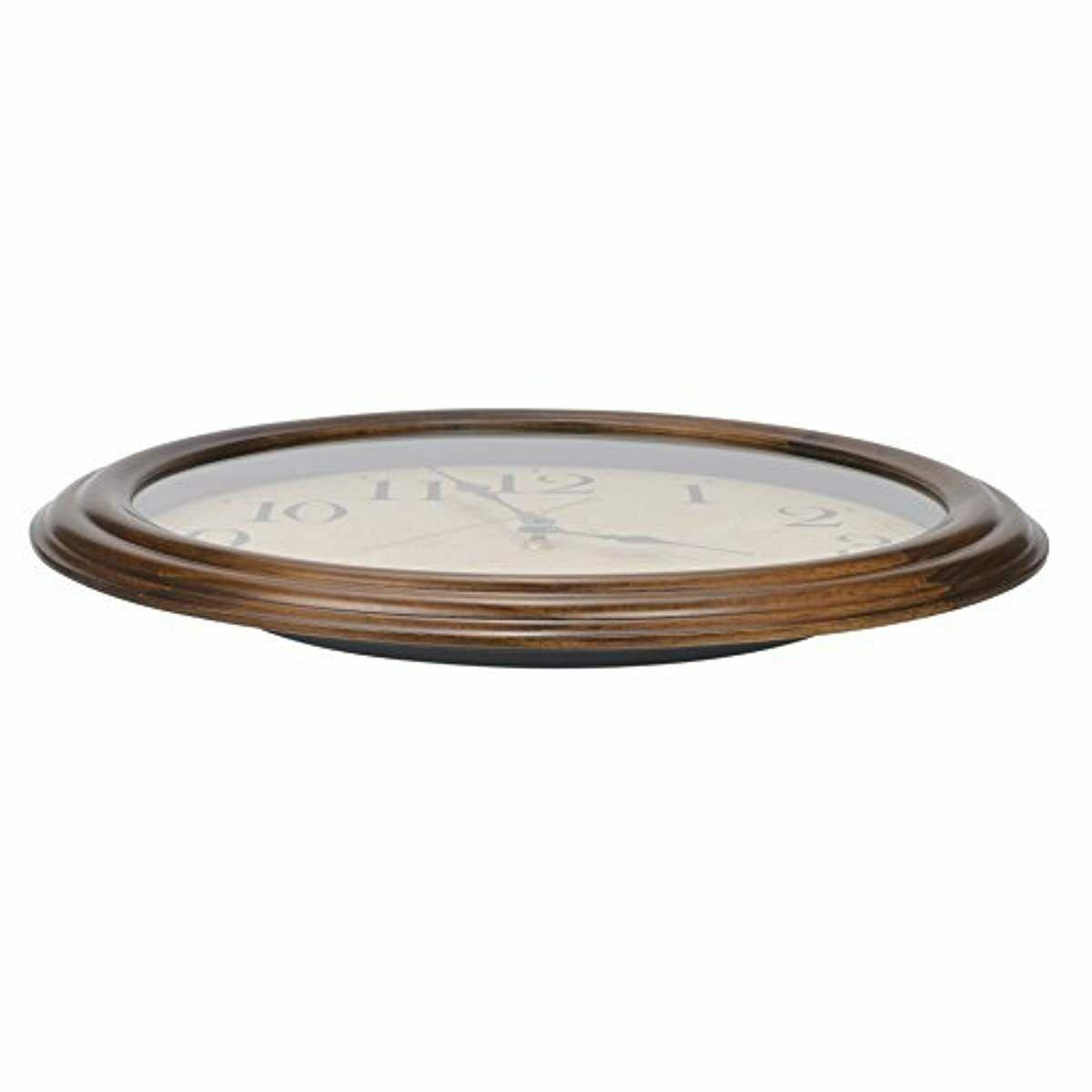 Old Oak 16-Inch Solid Wood Silent Non-Ticking Decorative Wall Clock with Large