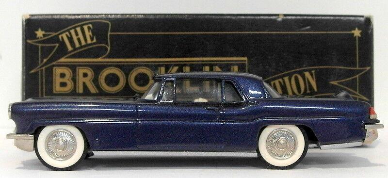 minorista de fitness Brooklin 1 1 1 43 Scale BRK11 008A  - 1956 Lincoln Cont MK II Met Med azul - BLK BOX  perfecto