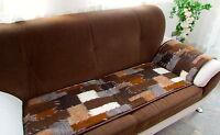 """Sesselschoner/Couchschoner 1 Stück  """"Patchwork""""  50x200 cm 100% Wolle"""