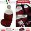 Schonbezuege-FIAT-500-massgeschniedert-Sitzbezuege-500-KOMPLETTER-SATZ-Ecru-Rot Indexbild 1