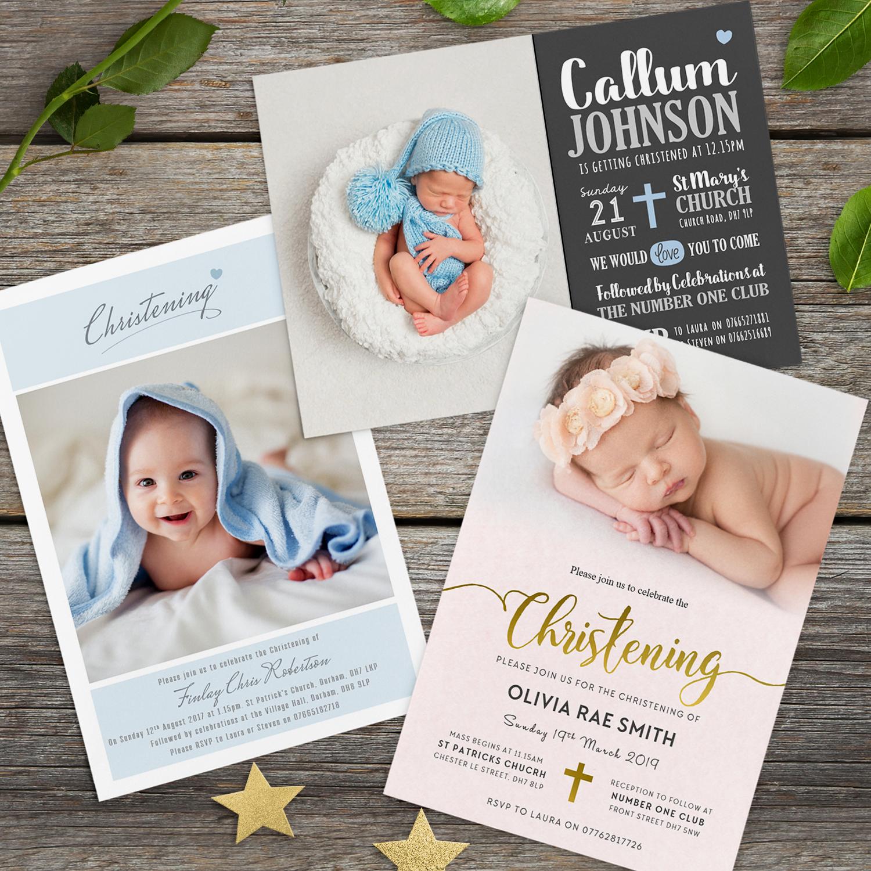 Personalised Boy Girl Christening Baptism Naming Ceremony Invitations New 2017