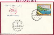 ITALIA FDC CAVALLINO TURISTICA PALMI 1987 TORINO Z834