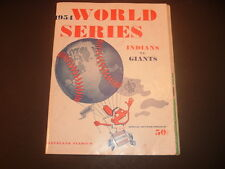 1954 New York Giants at Cleveland Indians World Series Program Unscored
