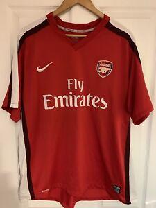 c9ea487f7a8 2008/2010 Arsenal home football shirt Nike Fly Emirates Gunners AFC ...