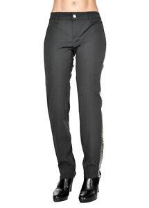 3754fe22cafa7 Caricamento dell immagine in corso Pantaloni-donna-MET-in-Jeans-con-strass- lungo-