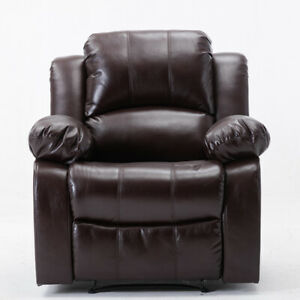 Overstuffed-Recliner-Chair-Padded-Sofa-Breathable-Leather-Heavy-Duty-Material