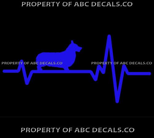 HEART BEAT LINE DOG Pembroke Welsh Corgi Puppy Adoption Rescue CAR VINYL DECAL