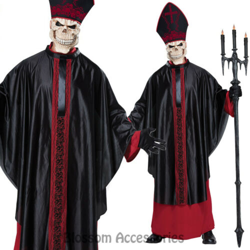 CA111 Black Mass Zombie Priest Holy Pope Religious Horror Mens Halloween Costume
