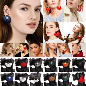 Fashion-Bohemian-Jewelry-Elegant-Crystal-Tassel-Earrings-Long-Drop-Dangle-Women