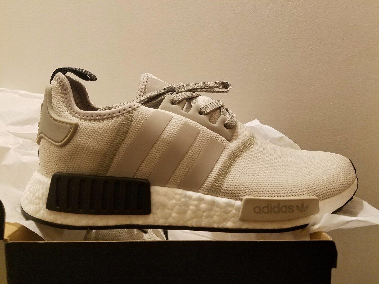 Adidas NMD R1 Runner Tan White Cream Black Black Black Khaki Mens shoes S76848 All size e86e9b