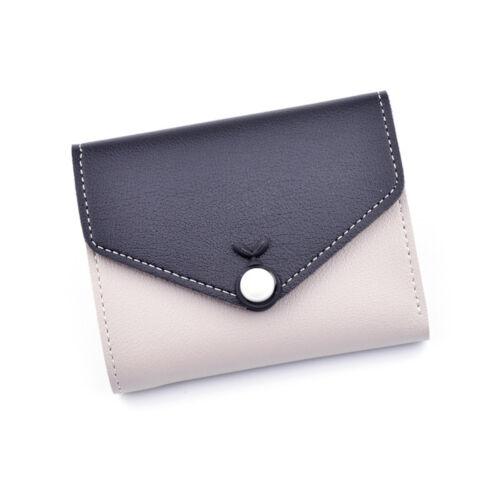 Mignon Femmes PU cuir court Wallet Porte-monnaie Carte de crédit titulaire organisateur cadeaux