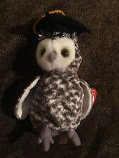 Ty Beanie Babies Smart Graduation Owl Class of 2001 Tag Price Sticker Residue