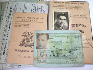 Ebay And Photo Id Grouping Bulgarian Card Paperwork 1941-1949 Of