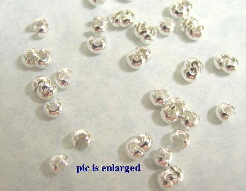 500 Silver Plated Crimp Tube Bead Covers 3MM BULK