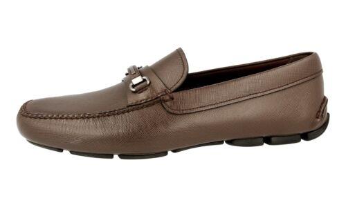 Luxueux 10 2dd118 Chaussures Nouveaux 44 Prada 5 Caffe Saffiano 44 7FaxpwqTx