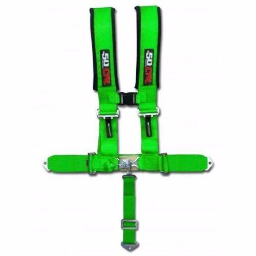 "Green Racing 5 Point 2/"" Safety Race Harness Polaris UTV RZR XP1000 XP900 900 800"