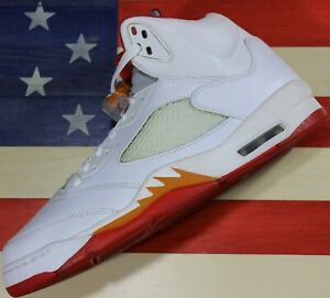 Nike-Jordan-V-5-White-Red-Sunset-Retro-Men-039-s-10-5-WNMS-12-VTG-2006-313551-161