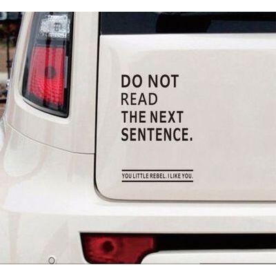 "Funny Car Truck Window 4""x6""Vinyl Decal Sticker Don't Read The Next Sentence"