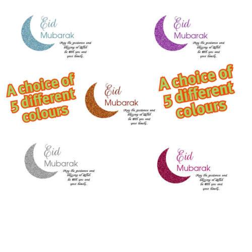 48x Non Personalised Eid Mubarak Muslim Islam celebration Ramadan Stickers 153