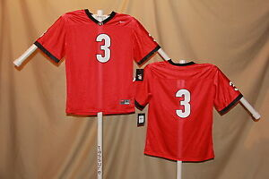 7fcabe70afff GEORGIA BULLDOGS Nike  3 FOOTBALL JERSEY Youth Large NWT  50 retail ...