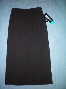 NWT-NEW-womens-ladies-size-6-black-BRIGGS-long-straight-skirt-40-retail