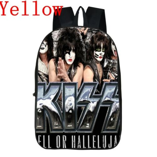 Kiss Band 3D Printing Girls Boys Children School Bags for Teenagers Backpacks