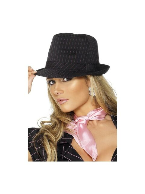 FEVER GANGSTER TRILBY HAT MENS LADIES 1920S GANGSTER FANCY DRESS ACCESSORY 74565139ead