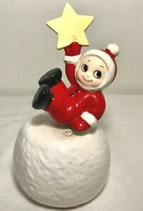 VTG-SANKYO-Child-Snowball-Star-Rotating-Music-Box-WISH-YOU-MERRY-CHRISTMAS-Japan